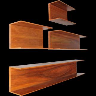 Set of seven Wall Shelves by Wilhelm Renz in Walnut