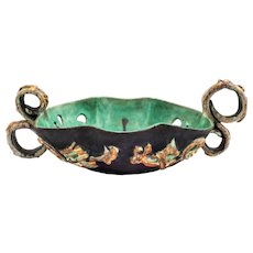 Floral Ceramic Bowl nr.178 by Vally Wieselthier for  Wiener Werkstatte