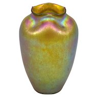 Golden Loetz Vase Candia Silberiris Colourful, circa 1901