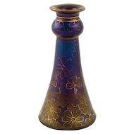 Superb and Colorful Etched Loetz Vase Decor I/116, circa 1900