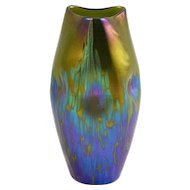 Green-Golden Loetz Vase with Medici Decor