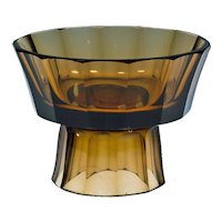 Wiener Werkstatte, documented Josef Hoffmann Centerpiece of brown glass, ca 1916