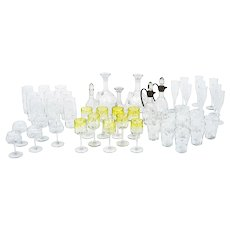 48 piece Set Koloman Moser Chamapgne Water Wine Beer Sherry