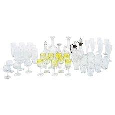48 piece Set Koloman Moser Chamapgne Water Wine Beer Sherry
