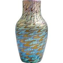 Highly iridescent Loetz vase ca. 1898 Phenomen Gre 7734