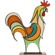 Hagenauer Rooster Austrian Mid-Century Brass Resin 1940ies/50ies Art Deco