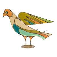 Hagenauer Dove Austrian Mid-Century Brass Resin 1940ies/50ies Art Deco