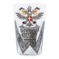 "Leopold Forstner, beaker ""Vienna"" with bronzit decoration ca. 1920 Art Nouveau"