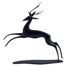 Werkstätte Hagenauer patinated brass deer marked ca. 1950s