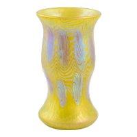 Phänomen Gre 3/430 Gelb Vase by Johan Loetz, 1903