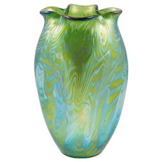 Loetz-Widow Phenomen Genre 7499/I Vase World Exhibition 1900