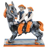Horse Figurine Group by Kitty Rix  for Wiener Werkstatte