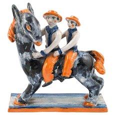 Horse Figurine Group by Kitty Rix  for Wiener Werkstatte