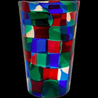 Pezzato Parigi Vase by Fulvio Bianconi for Venini e Co ca. 1951