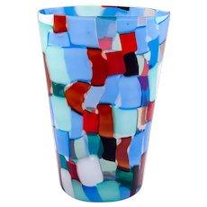 "Vase ""Pezzato"" Parigi Fulvio Bianconi Venini & Co. Murano polichrome patchwork glass ca. 1951"