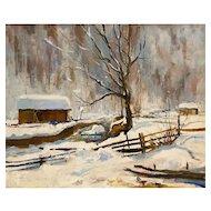 Ernst Huber Winter Landscape 1943