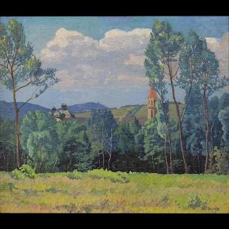"""Max Kahrer """"Stift Klosterneuburg"""" 1919"""