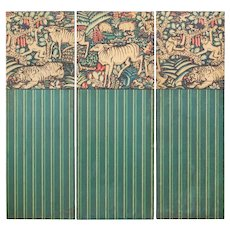 Three paravent panels Ludwig Heinrich Jungnickel design for the Palais Stoclet ca. 1909