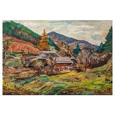"""Franz von Zülow (Vienna 1883 – 1963 Vienna) """"Fuchs' mill"""" oil on canvas 1937"""