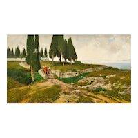 Ferdinand Brunner, Cypresses, Castel Gandolfo, 1898