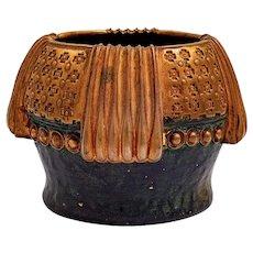 Cauldron Vase Gustav Gurschner bronze ca. 1910 signed