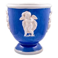 Ceramics vase with winged putti Michael Powolny Wienerberger ca. 1916/17