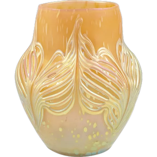 Bohemian Glassworks Johann Loetz Witwe Vase Unknown Decor circa 1900 Mouthblown