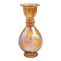 Austrian Jugendstil Loetz Mouth-blown Glass Vase circa 1899 Iridescent
