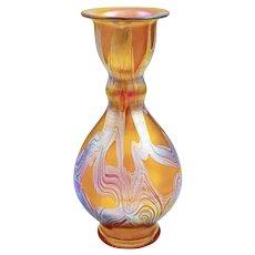 Austrian Jugendstil Loetz Mouth-blown Glass Vase circa 1899 Iridescent