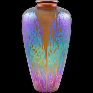 Large Vase Johann Loetz Witwe decor Medici Maron PG 2/484 ca. 1902