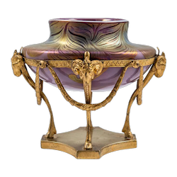 Signed Loetz Vase with Unidentified Phenomen Decoration pre 1900