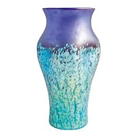 Cobalt Phenomen Gre 377 Vase Loetz Crackle Glass, circa 1900