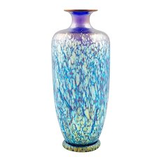 Cobalt Phenomen Gre 377 vase Loetz crackle glass ca. 1900