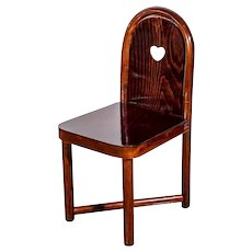 Austrian Jugendstil Children's Chair Bent Beechwood Mahogany Stain Prutscher