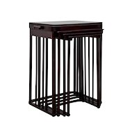 Nesting Tables Josef Hoffmann 1905 Jakob & Josef Kohn model no.986 (with vertical rods)