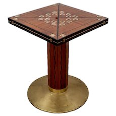 Gaming Table Vienna Marquetry Precious Wood Mother of Pearl Brass circa 1900