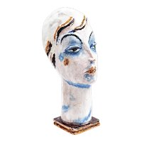 Gudrun Baudisch Female head Wiener Werkstatte 1928 marked