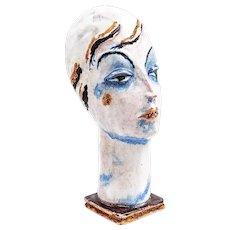 Gudrun Baudisch Female head Wiener Werkstatte 1928 marked