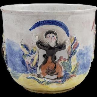 Cachepot Ceramics Colourfully Glazed Wiener Werkstatte Singer circa 1928 Austria