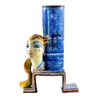 Ceramics Lamp Stand Female Head Gudrun Baudisch Wiener Werkstatte circa 1928
