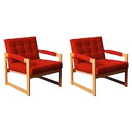 1960's pair of armchairs