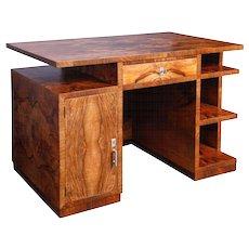 Italian origin walnut Art-Deco desk