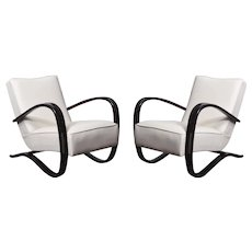 Pair of Art-Deco armchairs by Jindrich Halabala