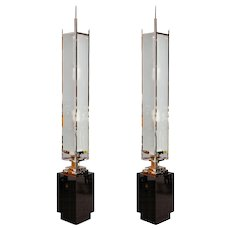 Pair of art-deco Floor lamps