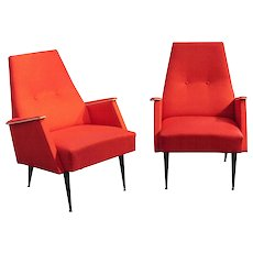 1960s Red Armchairs