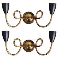 Pair of 1950s Sconces