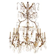 A 19th Century French Gilt-Gronze And Cut-Glass Fourteen-Light Chandelier