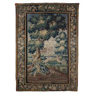 Early Louis XV Verdure Tapestry, Aubousson