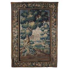 Early Louis XV Verdure Tapestry, Aubousson