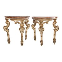 A Pair of small Italian 18'century  Console Tables